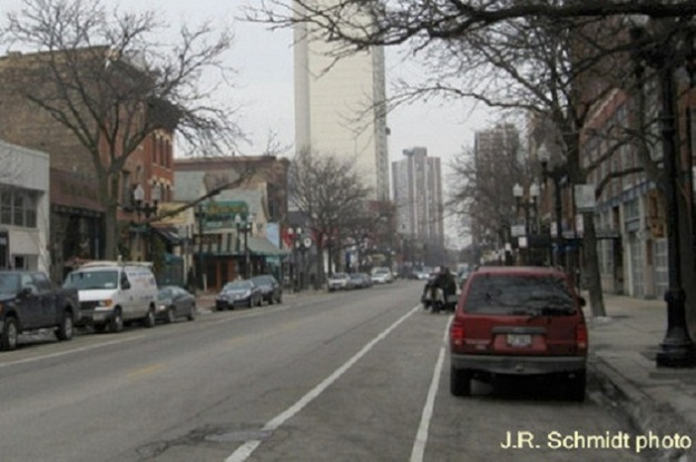 Wells Street at Burton Place--view north
