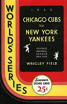 1932 World Series Program (author's collection)