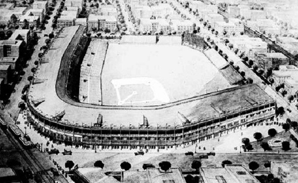 Wrigley Field, about 1930 (Library of Congress)