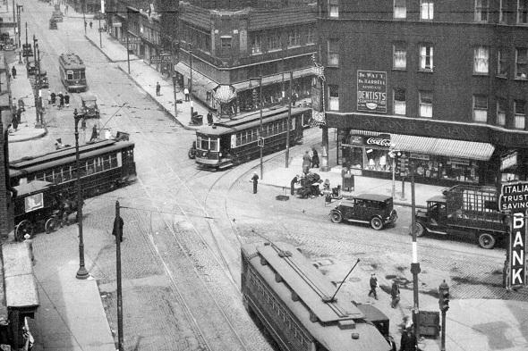 Milwaukee-Halsted-Grand, 1929 (CTA photo)