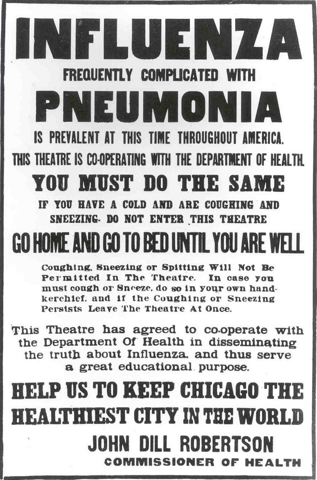 Chicago Public Health Poster (author's collection)