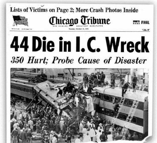 'Chicago Tribune' front page--October 31, 1972