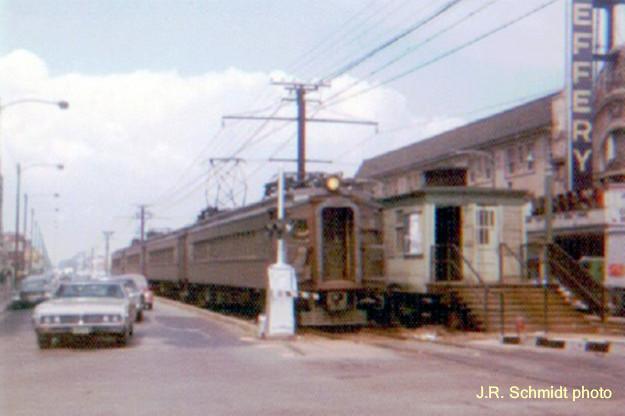 Older-style steel IC commuter train
