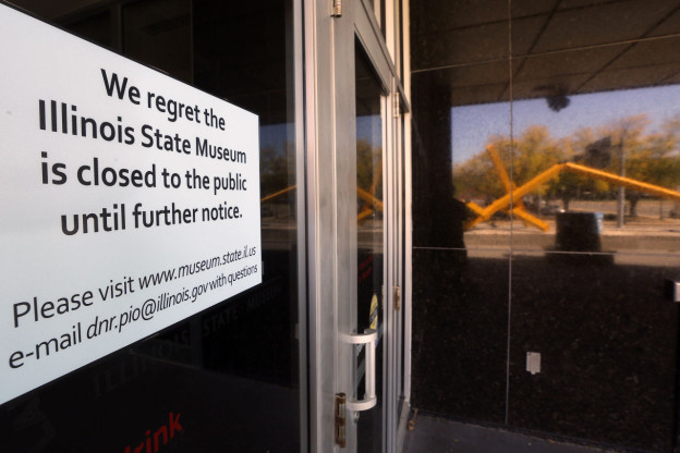 The Illinois State Museum in Springfield, Ill. has been closed indefinitely because of a budget impasse between Gov. Bruce Rauner and the legislature. (Seth Perlman/AP)
