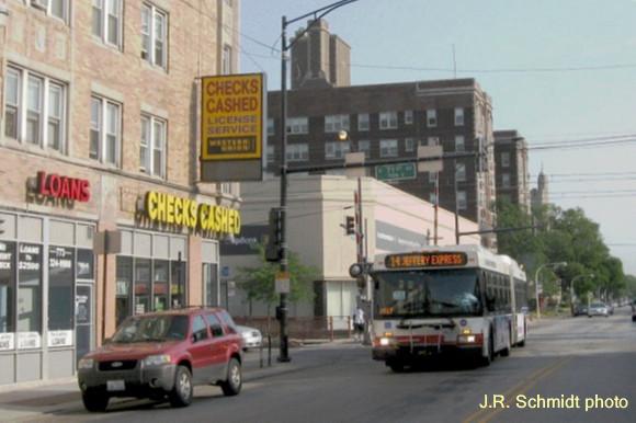 Jeffery Boulevard at 71st Street--view north