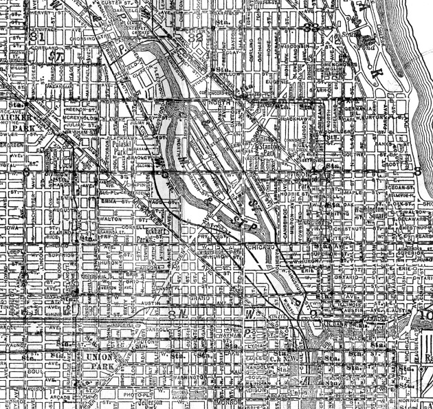 North Ogden Avenue (Cram's Chicago Street Map, 1935)