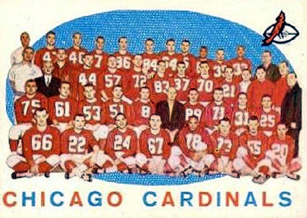 The 1959 Chicago Cardinals (author's collection)