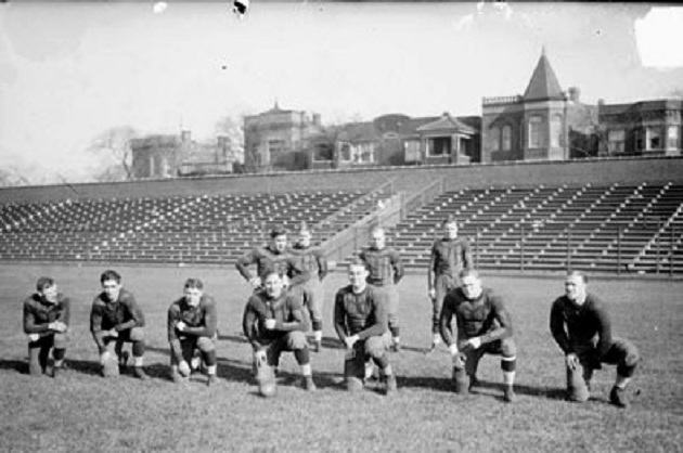 The Bears practice at Wrigley Field (Chicago Daily News)
