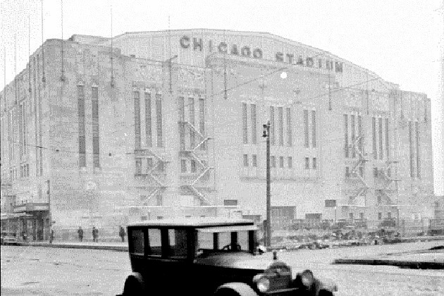 Chicago Stadium--site of the first NFL playoff (Chicago Daily News)