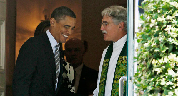 President Barack Obama and Luis León. (AP/File)