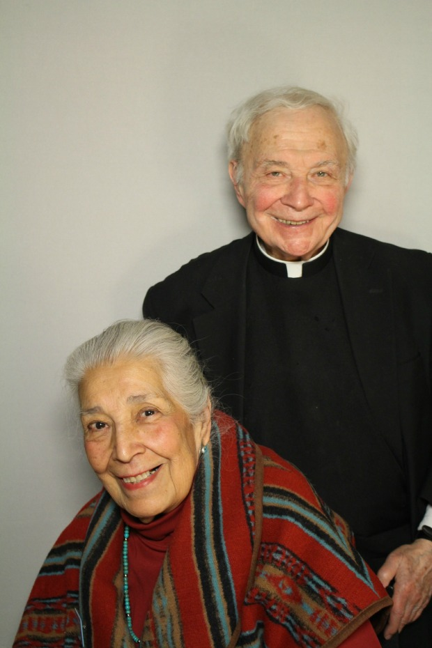 Susan Kelly Power and Father Peter Powell came by Chicago's StoryCorps Booth to talk about the history of Native Americans in Chicago. (Photo courtesy of StoryCorps)