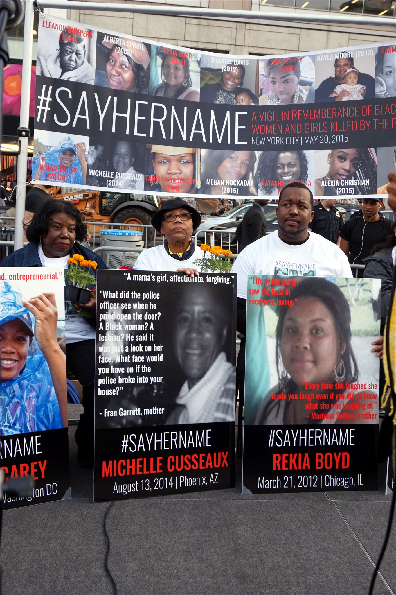 A Vigil in remembrance of Black women and girls killed by the police. (flickr/The All-Nite Images)