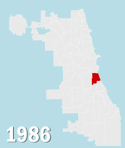 Chicago City Council Wards, 1986 (Source: University of Chicago)