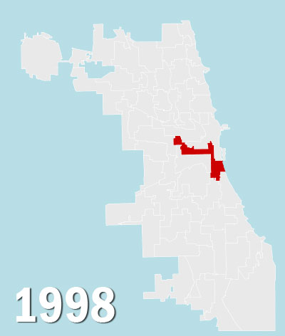 Chicago City Council Wards, 1998 (Source: University of Chicago)