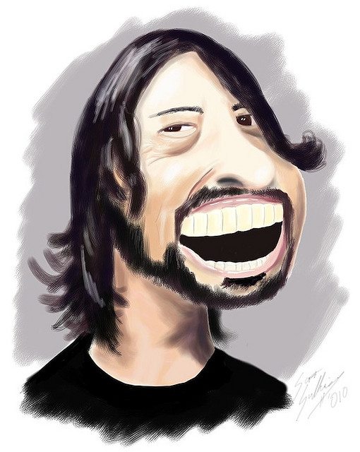 Dave Grohl (caricature by reelsinmotion/Flickr, Creative Commons).