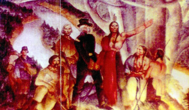 'Indians Cede the Land' by Smith (Park Ridge Mural Restoration Committee)