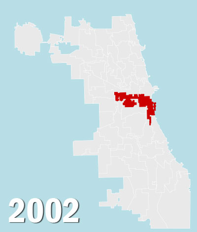 Chicago City Council Wards, 2002 (Source: City of Chicago)