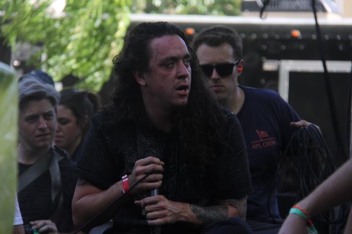 Trash Talk singer Lee Spielman (WBEZ/Andrew Gill)