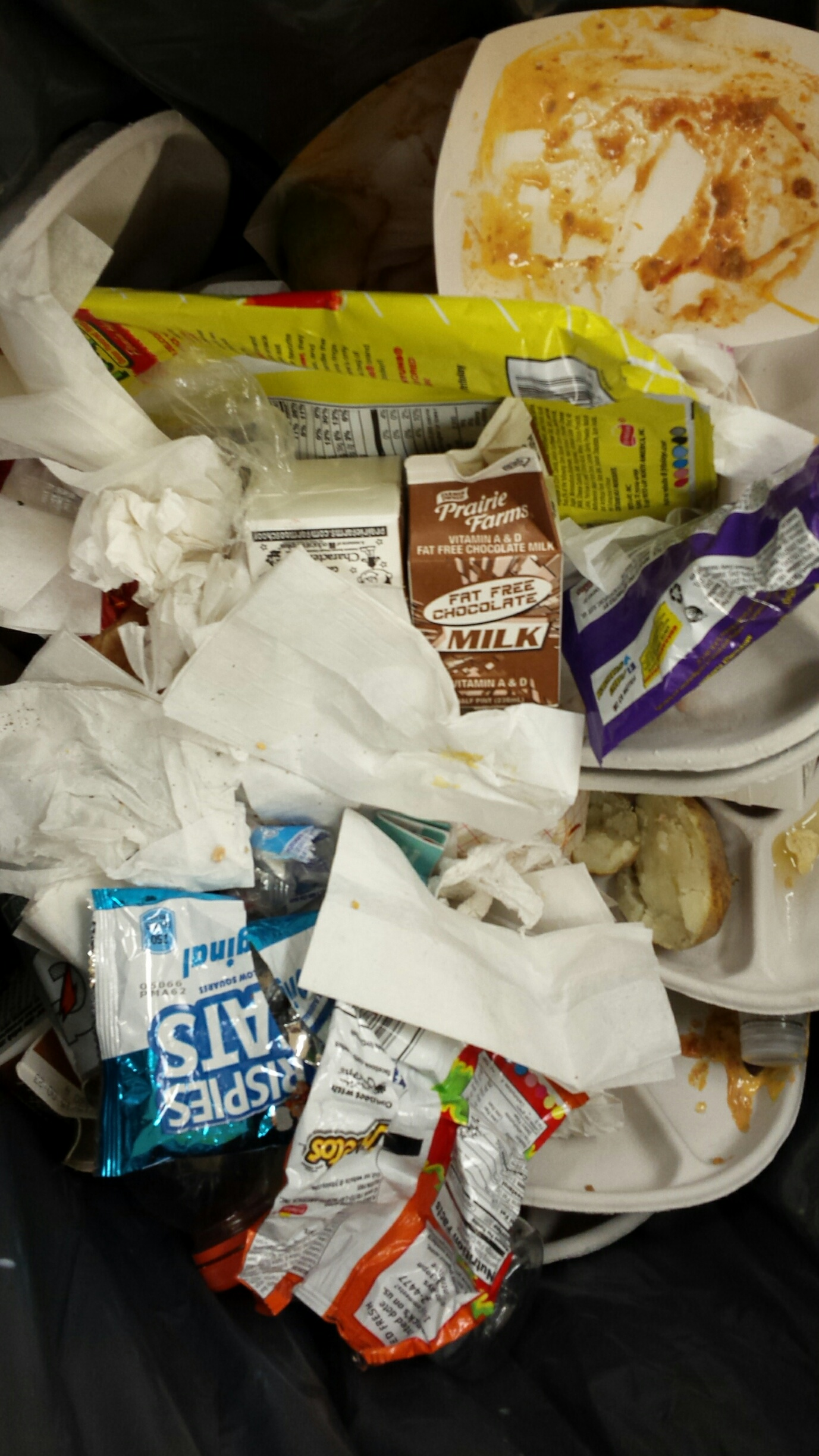 Inside school garbage can. (WBEZ/Monica Eng)