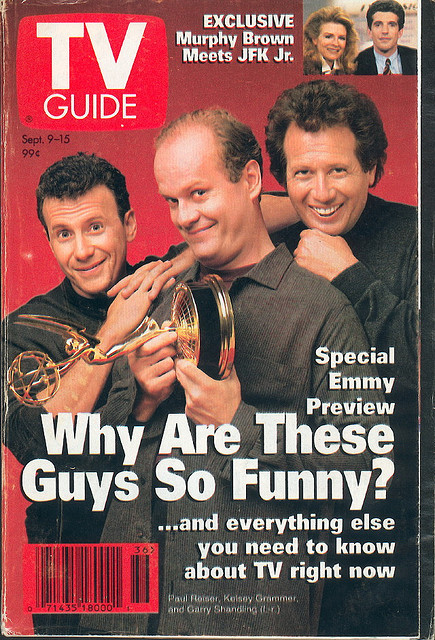 A September 9, 1995 issue of TV Guide. (Flickr/trainman74)