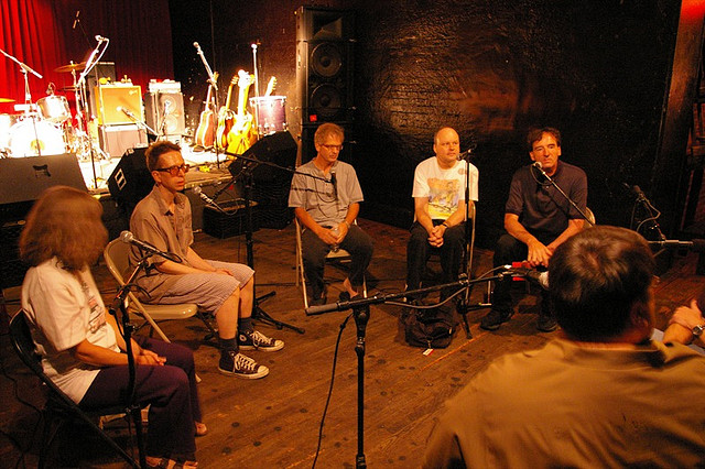 The Feelies interviewed for Sound Opinions at Maxwell's (Jason Saldanha).