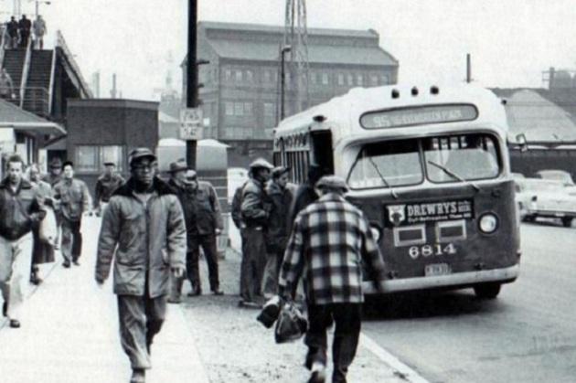 1956--89th Street, looking east toward Avenue O (CTA photo)