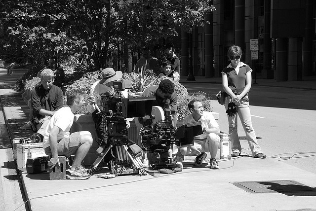 A crew filming in Chicago. (Flickr/FaceMePLS)