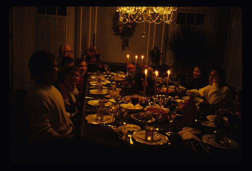 Thanksgiving at the Zulkeys', circa many years ago. (Claire Zulkey)