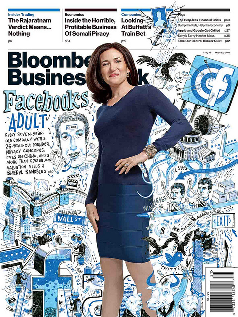 Sheryl Sandberg on the cover of Bloomberg Businessweek (Flickr/bizweekdesign)