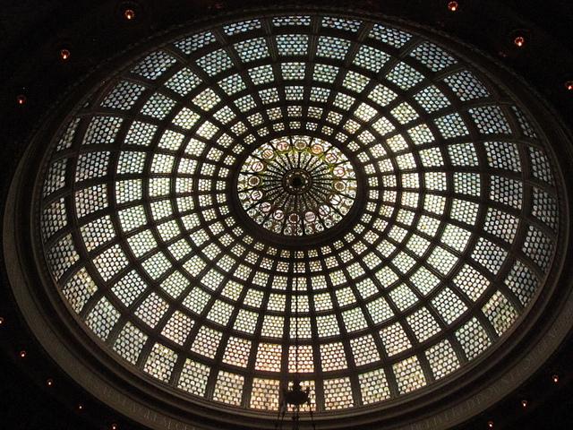 Tiffany Dome, Preston Bradley Hall, Chicago Cultural Center. (Flickr/Duncan)