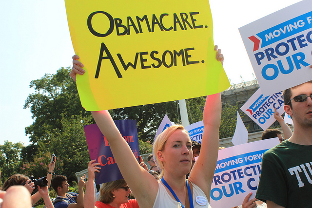 Sights from outside the Supreme Court on the morning of the Affordable Care Act Ruling. (Flickr/Talk Radio News Service)