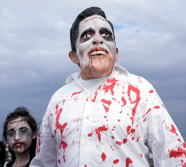 Zombie Mitt Romney. (Flickr/Bob Jagendorf)