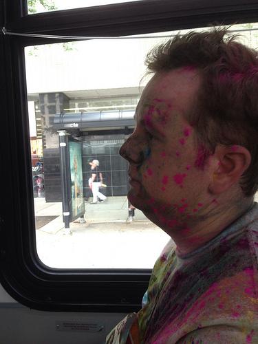 Steve on the bus