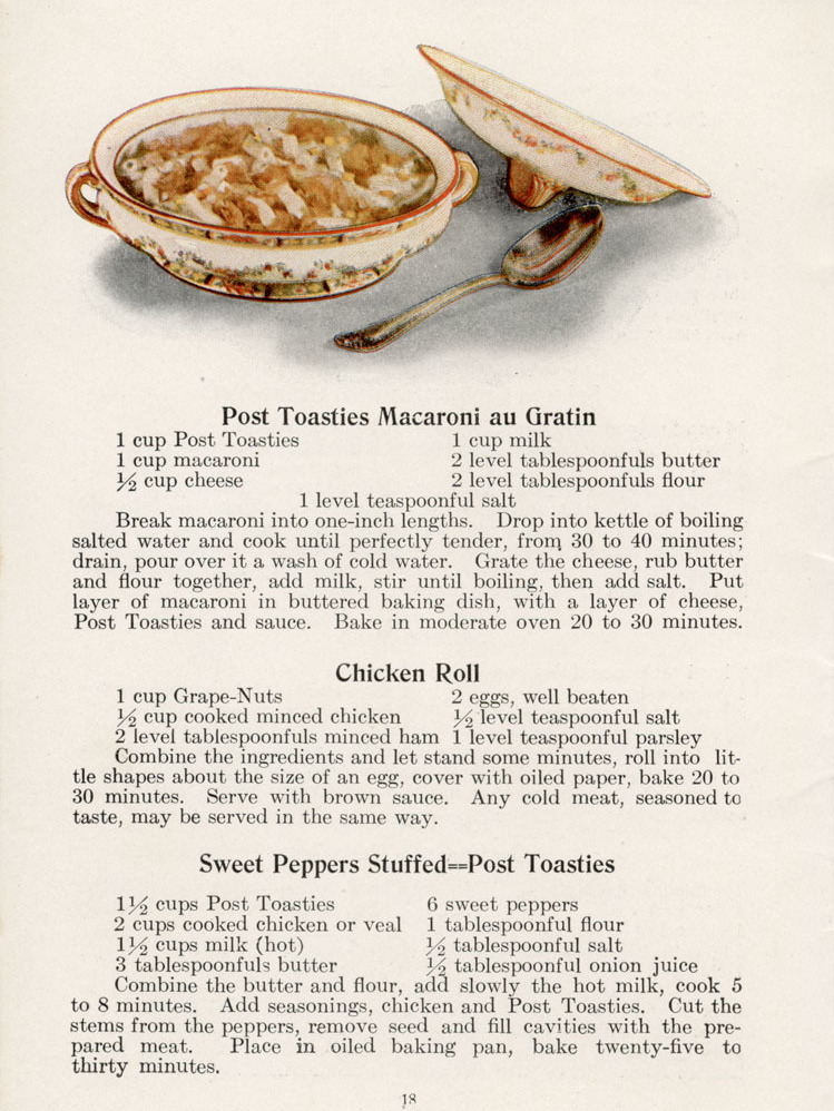 A leftover recipe from the early 20th century. (Special Collections/Michigan State University)