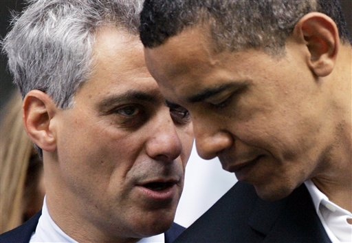 Chicago mayor Rahm Emanuel's relationship with President Obama could get tested with a teachers strike. (AP Photo/Charles Rex Arbogast, File)