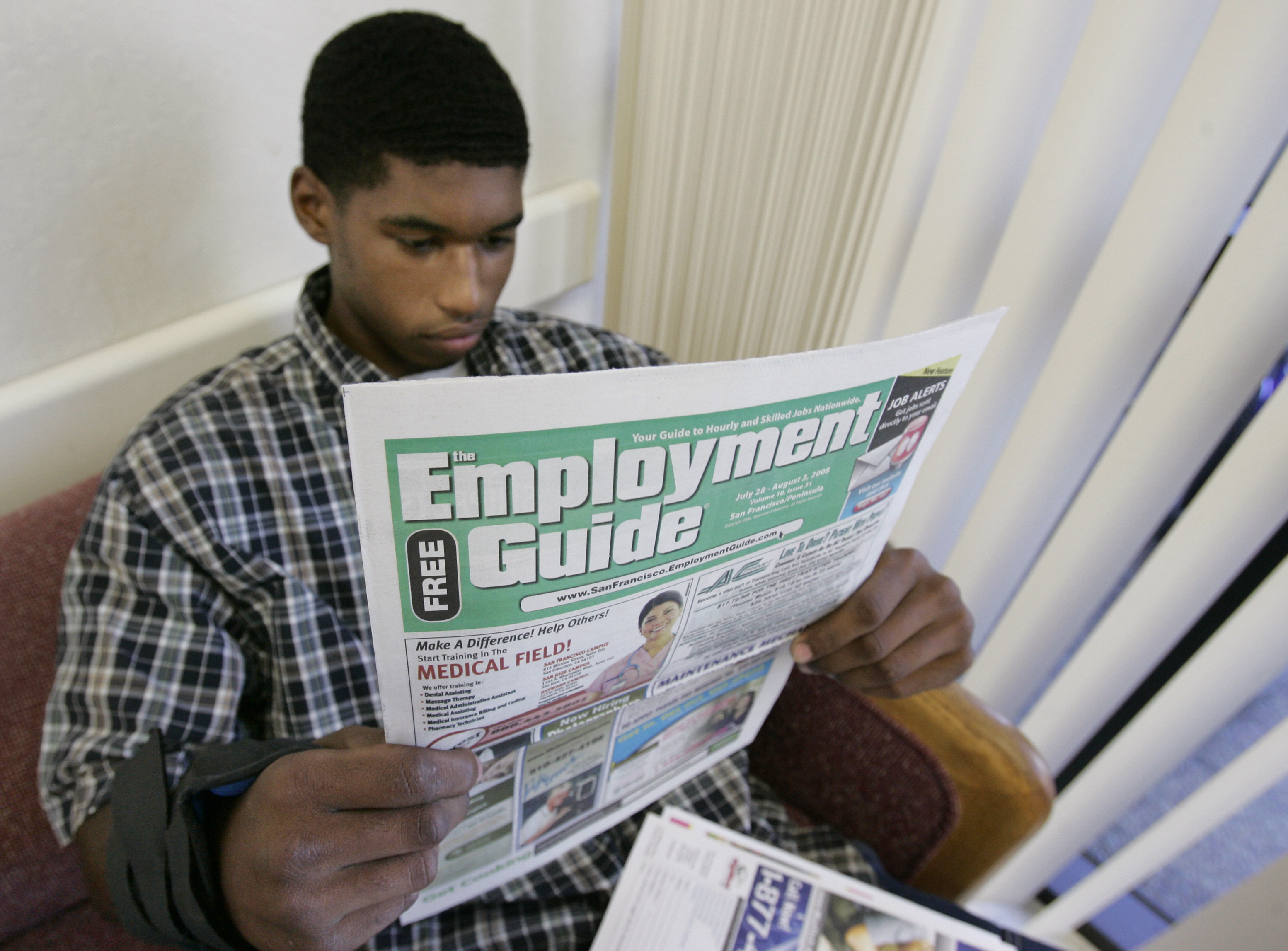 What kind of future can we envision for America with 54% of people between the ages of 18 and 24 unemployed?  (AP/Paul Sakuma)