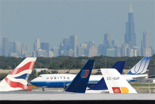 The crowded space at O'Hare (AP Photo/Paul Beaty)