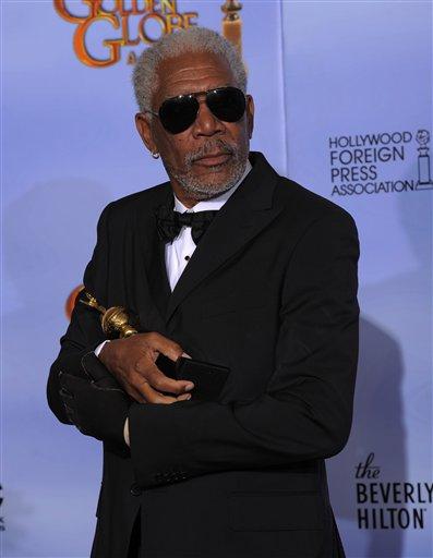 Freeman at the 2012 Golden Globe Awards. (AP/Mark J. Terrill)