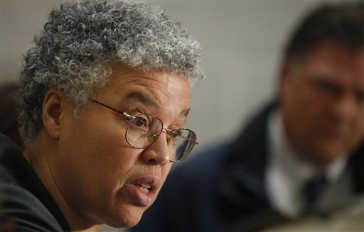 Cook County Board president Toni Preckwinkle: not a Reagan fan. (AP/M. Spencer Green)