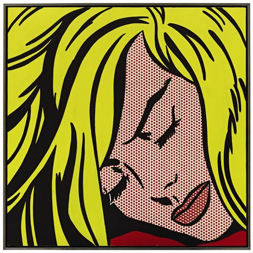 Roy Lichtenstein's 'Sleeping Girl', 1964. (AP/Sotheby's)