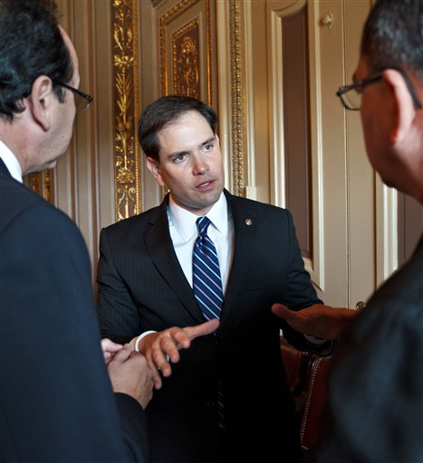 Florida U.S. Sen. Marco Rubio been talking up his own version of the DREAM Act, which, unlike to the original, would not provide a path to permanent residency or citizenship. (AP/file)