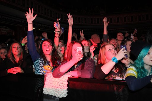 File: Fans at an Ellie Goulding concert use cell phones to capture the event. (AP/File)