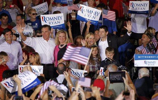 Mitt Romney with running mate Paul Ryan (AP Photo/Pablo Martinez Monsivais, File)