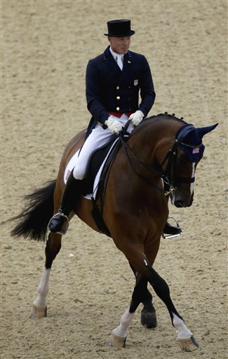 Jan Ebeling, of the United States, rides Rafalca in the equestrian dressage competition at the 2012 Summer Olympics. (AP/David Goldman)