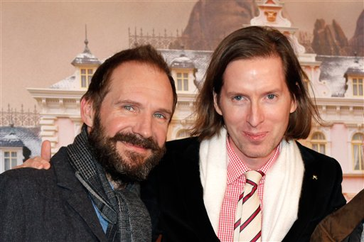 Ralph Fiennes and Wes Anderson (AP/Thibault Camus)