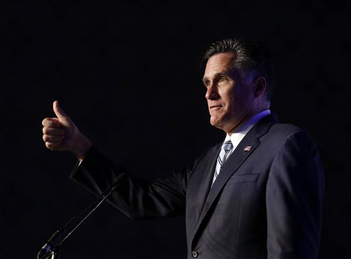 GOP presidential candidate and motormouth, Mitt Romney AP Photo/Charles Dharapak