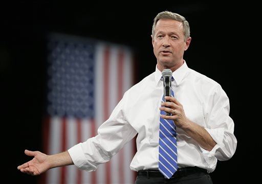 Democratic presidential candidate and former Maryland Gov. Martin O'Malley speaks during the Iowa Democratic Party's Jefferson-Jackson fundraising dinner, Saturday, Oct. 24, 2015, in Des Moines, Iowa. (AP Photo/Charlie Neibergall)