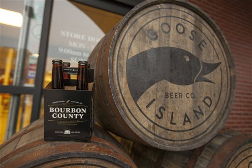 Goose Island Beer Company's limited Black Friday release of Bourbon County Brand Stout in Chicago. (Photo by Barry Brecheisen/Invision for Goose Island Beer Company/AP Images)