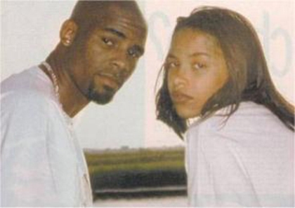 The real Aaliyah with R. Kelly (WBEZ file).