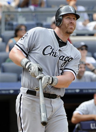 Sox slugger Adam Dunn returns to form in 2012, and is rewarded with a spot on the All-Star team. (AP/Bill Kostroun)